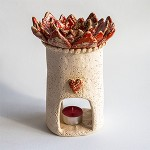Aromaterapinė žvakidė Raudoni žiedai