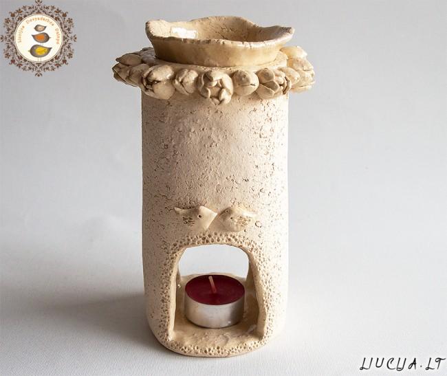 Aromaterapinė žvakidė Žiedynas