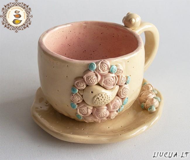 Puodelis Rožinis pavasaris