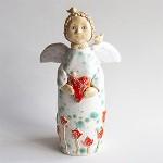 Angelas-skulptūrėlė Namų šiluma