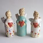 Skulptūrėlės Meilės angelai
